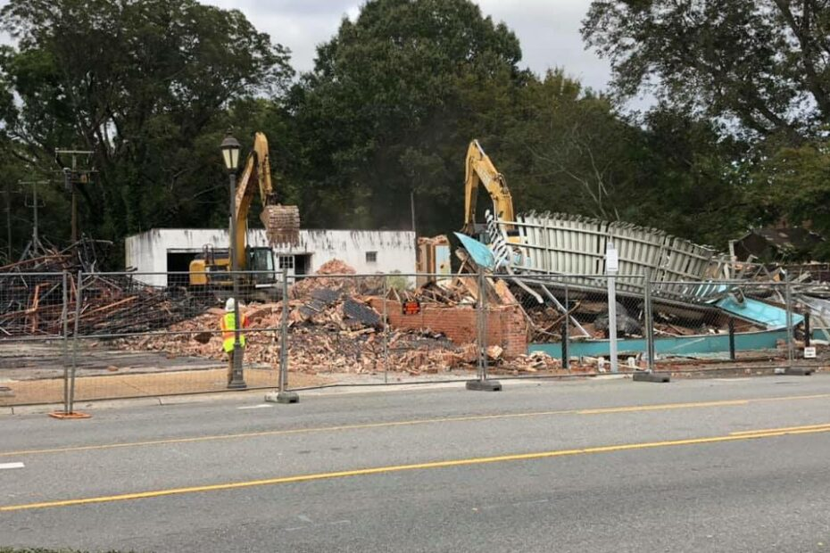 Demolition nearly complete of the old booker properties