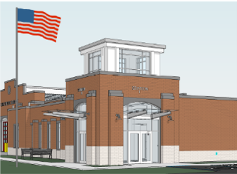 station 1 main entrance concept drawing