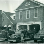 Original Fire House with engines out front
