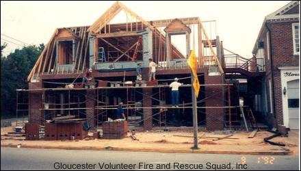 Newest section of the fire houe under construction